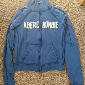 Abercrombie & Fitch zip up sweatshirt size L